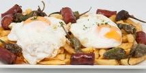 Huevos Estrellados con Chistorra Arbizu